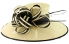 Failsworth Millinery Two Tone Events Hat in Ivory & Navy