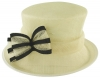 Failsworth Millinery Two Tone Bow Wedding Hat in Ivory & Navy