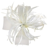 Aurora Collection Biots and Beads Fascinator in Ivory