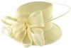 Elegance Collection Quill and Loops Wedding Hat in Ivory