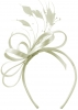 Elegance Collection Satin Loops Aliceband Fascinator in Ivory