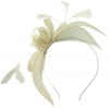 Failsworth Millinery Aliceband Sinamay Fascinator in Ivory