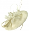 Failsworth Millinery Shaped Sinamay Disc in Ivory