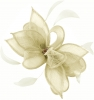 Failsworth Millinery Sinamay Clip Fascinator in Ivory