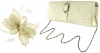 Failsworth Millinery Sinamay Clip Fascinator with Matching Occasion Bag in Ivory
