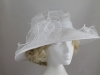 Hawkins Collection Large Brim Hat in Organza in White