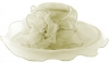 Libby Bea Collapsible Occasion Hat in Ivory