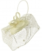 Max and Ellie Pillbox Fascinator in Ivory