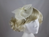 Aurora Collection Net and Feathers Fascinator in Ivory