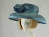 Jacques Vert Grey Blue Formal Hat