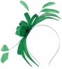 Failsworth Millinery Aliceband Sinamay Fascinator in Jade