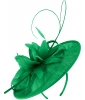 Failsworth Millinery Shaped Sinamay Disc in Jade