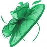 Failsworth Millinery Sinamay Disc Headpiece in Jade