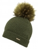 Alice Hannah Knitted Bobble Ski Hat in Khaki