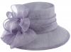 Hawkins Collection Wide Loops Wedding Hat in Lavender