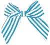 Daisy Daisy Striped Bow Hair Clip in Light Blue