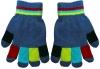 Magic Multi Coloured Gloves in Light Blue