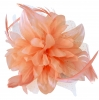 Aurora Collection Flower Comb Fascinator in Light Pink