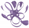 Aurora Collection Fascinator with Loops and Feathers in Lilac