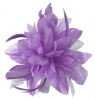 Aurora Collection Flower with Biots Fascinator in Lilac