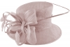Elegance Collection Quill and Loops Wedding Hat in Lilac