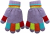 Magic Multi Coloured Gloves in Lilac