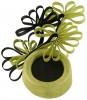 Failsworth Millinery Ascot Pillbox Headpiece in Lime & Black