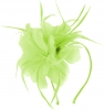 Aurora Collection Feather Aliceband Fascinator in Lime