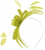 Failsworth Millinery Aliceband Sinamay Fascinator in Lime