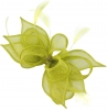 Failsworth Millinery Sinamay Clip Fascinator in Lime