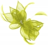 Failsworth Millinery Sinamay Diamante Clip Fascinator in Lime