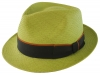 Failsworth Millinery Trilby Panama Hat in Lime