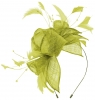 Max and Ellie Diamante Fascinator in Lime