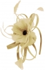 Failsworth Millinery Flower Fascinator in Linen