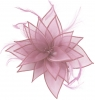 Failsworth Millinery Organza Leaves Fascinator in Lupin