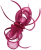 Aurora Collection Satin Loops Comb Fascinator in Magenta