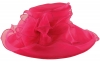 Libby Bea Collapsible Occasion Hat in Magenta