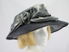 Marida Silver Grey and Black Events Hat