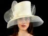Matthew Eluwande Millinery Ivory Parasisal and Sinamay Hat