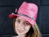 Matthew Eluwande Millinery Pink Straw Face Cap