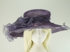 Wide Brimmed Occasion Hat in Mauve