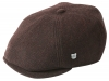 Failsworth Millinery Hudson Six Piece Cap in Merlot