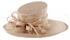 Max and Ellie Ascot Hat in Metallic Nude