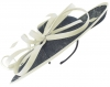 Failsworth Millinery Ascot Disc Headpiece in Midnight & White