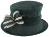 Failsworth Millinery Two Tone Bow Wedding Hat in Midnight & White