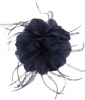 Failsworth Millinery Feather Fascinator in Midnight