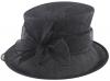 Failsworth Millinery Loops Wedding Hat in Midnight