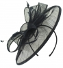 Failsworth Millinery Sinamay Disc Headpiece in Midnight