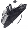 Failsworth Millinery Sinamay Leaves Disc in Midnight