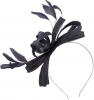 Failsworth Millinery Sinamay Loops Fascinator in Midnight